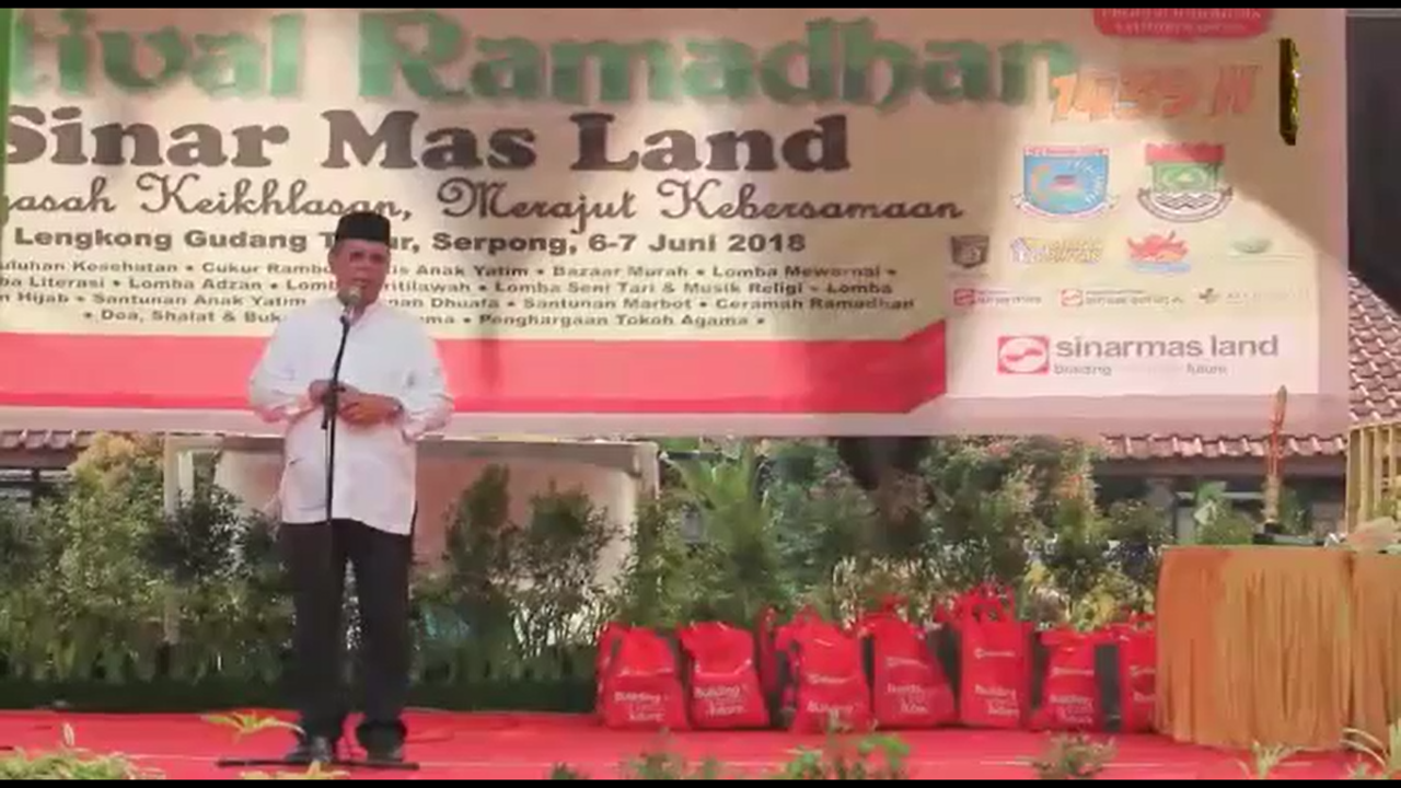 D'Kapster menghadiri acara CSR Sinar Mas Land